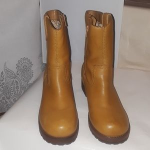 70dff279992 STEVE MADDEN MID CALF LEATHER TAN EARL BOOTS